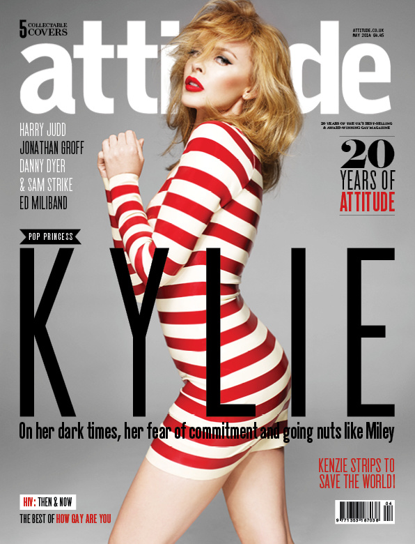 Kylie Minogue on the cover of Attitude Magazine